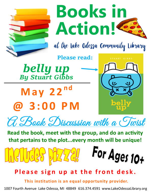 Book Discussion on Belly Up, by Stuart Gibbs
